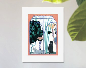 Illustration, Poster, Digital art print on paper, The Greenhouse