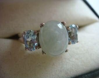 Green Quartz Ring in Silver