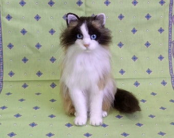 Custom Sculptural Portrait - Copy Your Cat - Needle Felting