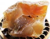 Drusy Carnelian Crystal Agate Stone Oregon Agate Druzy Carnelian Yellow Orange Pocket Display Healing Stone