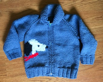 1960's Knit Snoopy Sweater