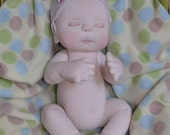 """CUSTOM listing for Tasia. Fretta's Newborn Baby Doll. Weighted Empathy Baby. Realistic looking jointed 50.8 cm /20"""" Soft Sculpture Baby."""