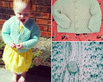 50%Off 1950's Vintage blue girls sweater