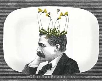 pothead melamine platter, Dandelion I