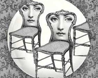 Seating I Cavalieri melamine plate