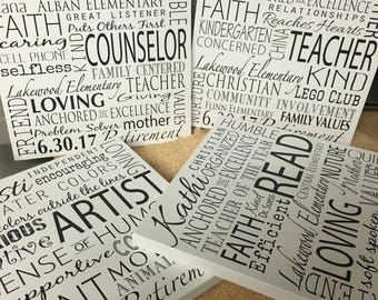 End of year or retirement gift for teachers. Unique and Special gift idea, for teachers, and suppirt staff from the group