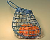 Blue onion basket