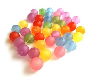 8mm frosted acrylic beads