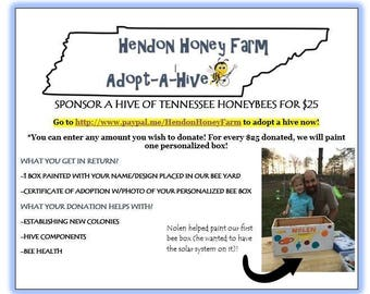 Adopt-a-hive of bees in tennessee