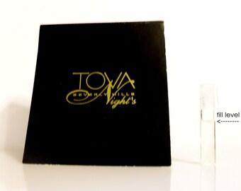 Vintage 1990s Tova Nights by Tova Eau de Parfum Sample Vial on Card PERFUME