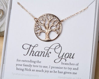 Family Tree charm Necklace,Mother's day gift,Gift for mother,Mother of the groom, mother in law gift, gift from bride to mom, tree of life