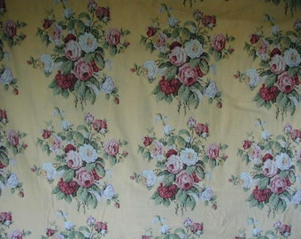 Vintage Ralph Lauren Duvet Cover, Gorgeous Floral Print,Full-Queen Bed Size, Shabby Cottage, Cottage Chic, Large Rose Bouquets