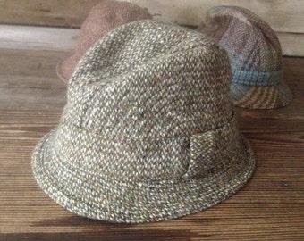 Donegal Irish Wool Tweed Hat Country Wool Cap
