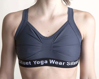 Sports bra  GRAY  for Bikram yoga