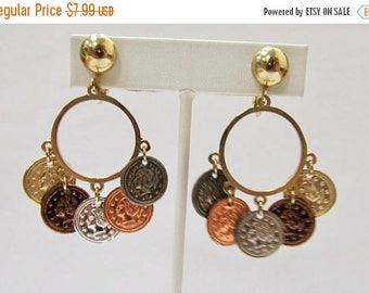 On Sale CORO Dangling Coin Earrings Item K # 2447