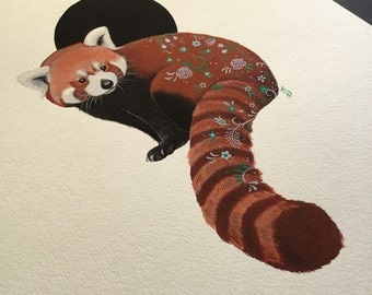 Red Panda painting by Emily Shoichet