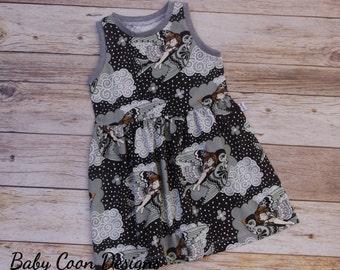 Organic Baby Dress Organic Euro Designer Jersey baby girl dress toddler dress - Custom Order sizes - 12 months - 6 // size 2T - in stock
