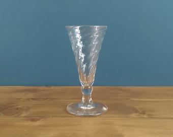 Antique Wrythen Short Ale Glass c1795