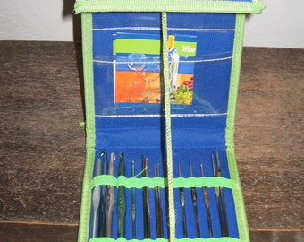 The Crochet Dude case with 15 Hooks Sewing Tools