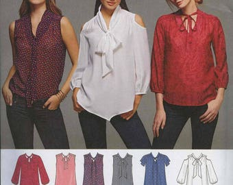 Simplicity 8131 Blouse Pattern Size H5 6-14