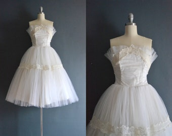 Bailey / 50s wedding dress / vintage 1950s wedding dress