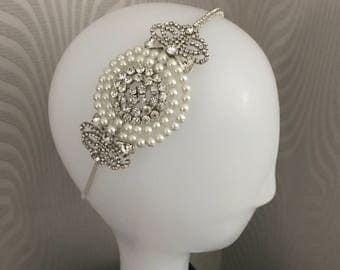 Great Gatsby Headband , Bridal headpiece -1920s  Dress , Art deco style flapper Wedding Headband