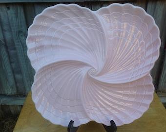 Seashell 4 section serving plate platter Shafford Original 1983