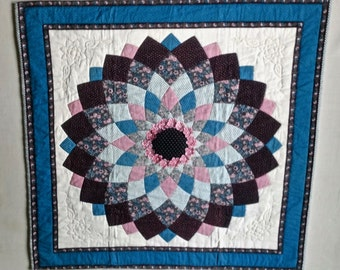 Dahlia Quilted Wall Hanging