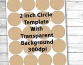 2 inch Circles Digital Collage Sheet Template Bottlecap / Bottle Cap Jewelry Stickers INSTANT DOWNLOAD Make Your Own Scrapbook Embellishment