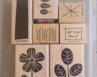 RETIRED Stampin' Up. All the Best. Garden Whimsey. So Many Sayings