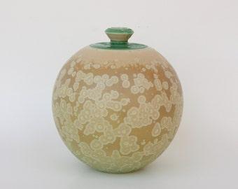 Small Matte Crystalline Cremation Urn