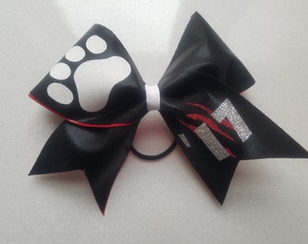 Mascot Cheer bow with Claw Marks on the Tail
