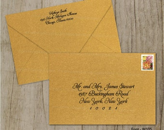 Custom Wedding Digital Calligraphy Envelope Addressing Printing - Font W105
