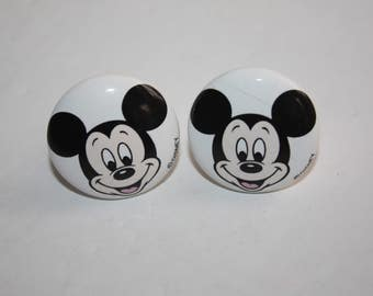 2 Mickey Mouse Ceramic Drawer Pulls/Disney Drawer Knob/Kid's Drawer Pull/Children's Cabinet Knob