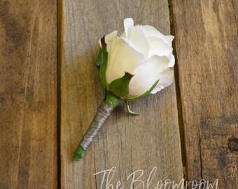 Wedding boutonniere / Grooms flowers / Rustic boutonniere, / Groom's boutonniere / Groomsmen buttonhole / Formal buttonhole / Lapel