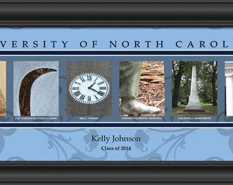 PERSONALIZED & FRAMED NCAA North Carolina Tar Heels Letter Art Sports Prints