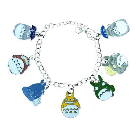 Totoro inspired charm bracelet