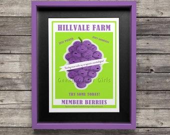 South Park Poster |  Member Berries poster print | Member Berry ad poster