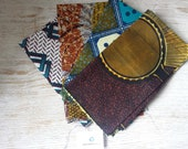 Bundle of 4 Fat quarters African wax print fabric smaller pieces craft project quilting embroidery - Bundle 245