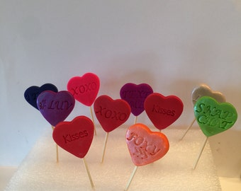 Valentine cupcake tooth picks, cupcakes,party favors,Valentie's Day, hearts
