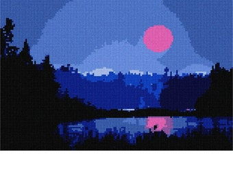 Needlepoint Kit or Canvas: Twilight