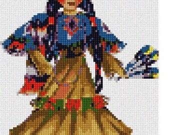 Needlepoint Kit or Canvas: Indian Costume