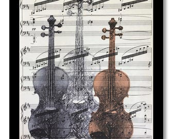 Violin Prints, Music Room Prints, Music Print, Violin, Music Gift Ideas, Chopin Music, Mozart Music, Music, Vintage Music, Vintage Violin