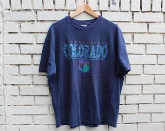 Vintage BRECKENRIDGE, COLORADO Novelty Shirt Size XL X-Large co united states rocky mountains outdoor hiking tourist