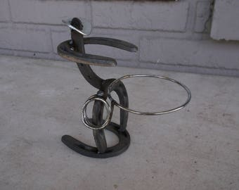 Horseshoe Cowboy Cup Holder