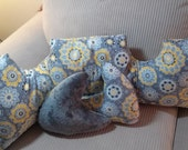 Mastectomy Pillows/Set of Three/Custom HealingPillows Breast Cancer Awearness/Across the Chest pillow