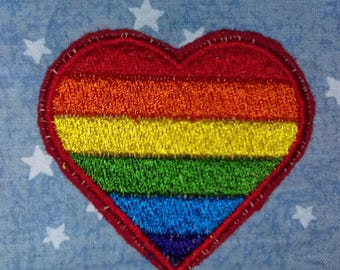 Iron on Gay Pride Patch