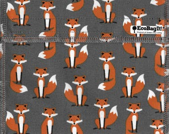EcoBagIt! MR. FOX XL - Keep Fresh reusable sandwich bag