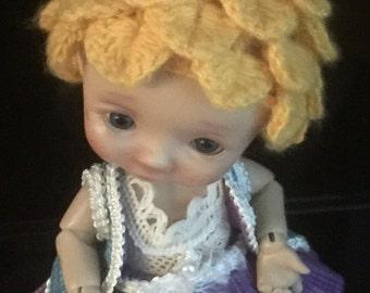 Cashmere Pineapple hat for BJD dolls by Nikki Britt