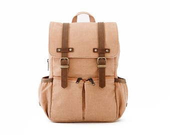 CITYKID Kids Backpack / Tan Canvas